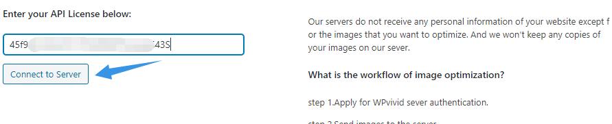 Connect to WPvivid image optimization servers