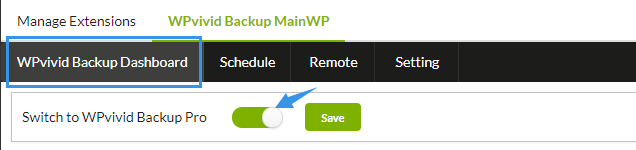 Switch to wpvivid backup pro