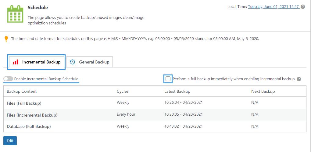 WPvivid pro backup schedules
