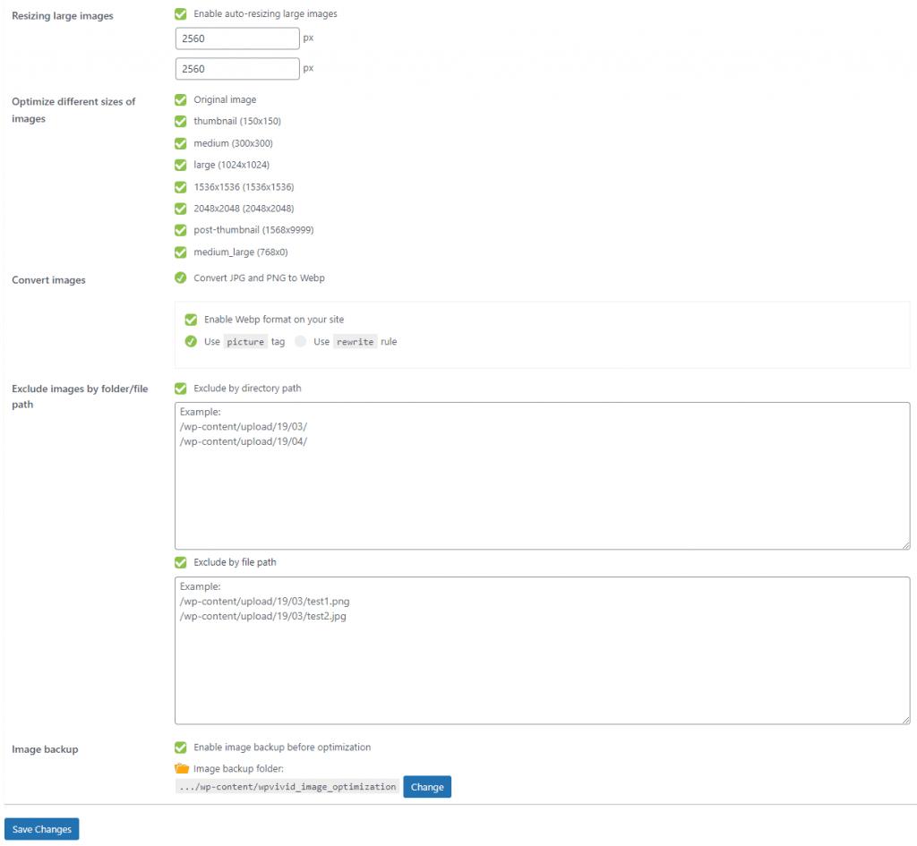 WPvivid pro plugins settings 2