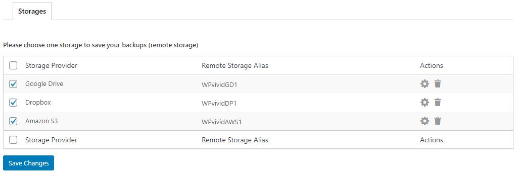 WPvivid Backup Pro Multiple Storage